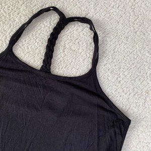 Electric Yoga Workout Athletic Tank Black Small
